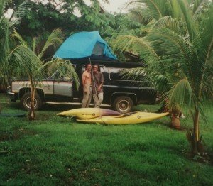 Todd and Jaco, Costa Rica 1999, still in the brainstorming phase of what would become the wonderful Wet Planet Whitewater Center.