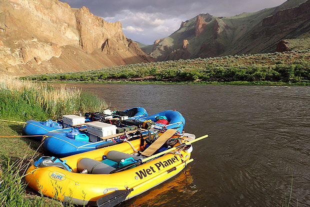 Rafts at Camp Owyhee River
