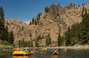 Rafts and inflatable kayaks on Idaho's Main Salmon River