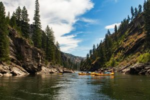 Rafts and Inflatable Kayaks on the Main Salmon River in Idaho