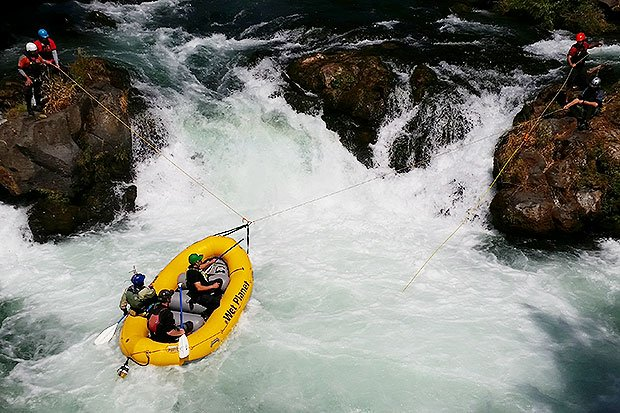 Husum Falls rope skills rescue white salmon river