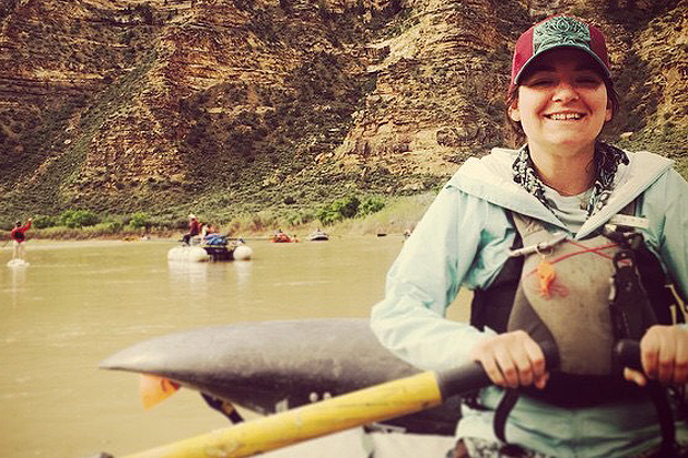 Lisa Ivester wet planet raft guide Green River Desolation Canyon