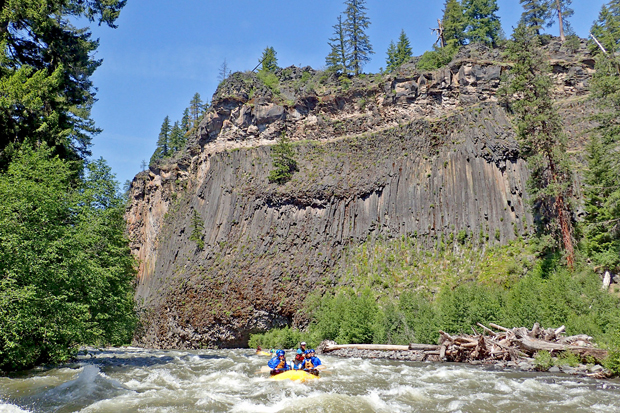 klickitat river levels water flows spring rafting washington