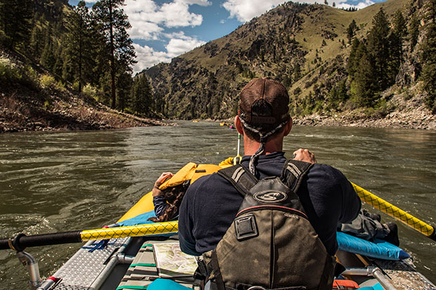 Main Salmon River Rafting Multi-Day trips gear boat