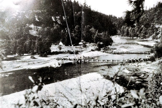 Historic white salmon river namnit village, now the underwood in-lieu site