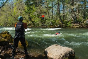 Throw Bag Practice during a River Rescue Course
