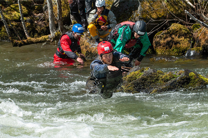 Swim Practice during a Rescue Course
