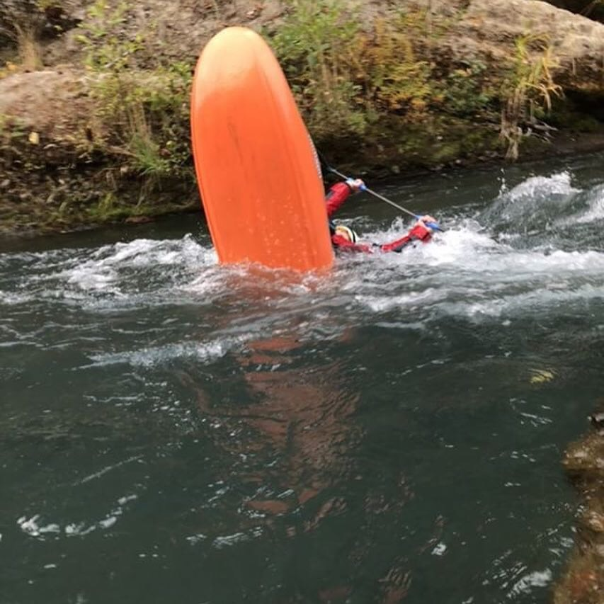 Naomi showing her passion for whitewater on the white salmon river