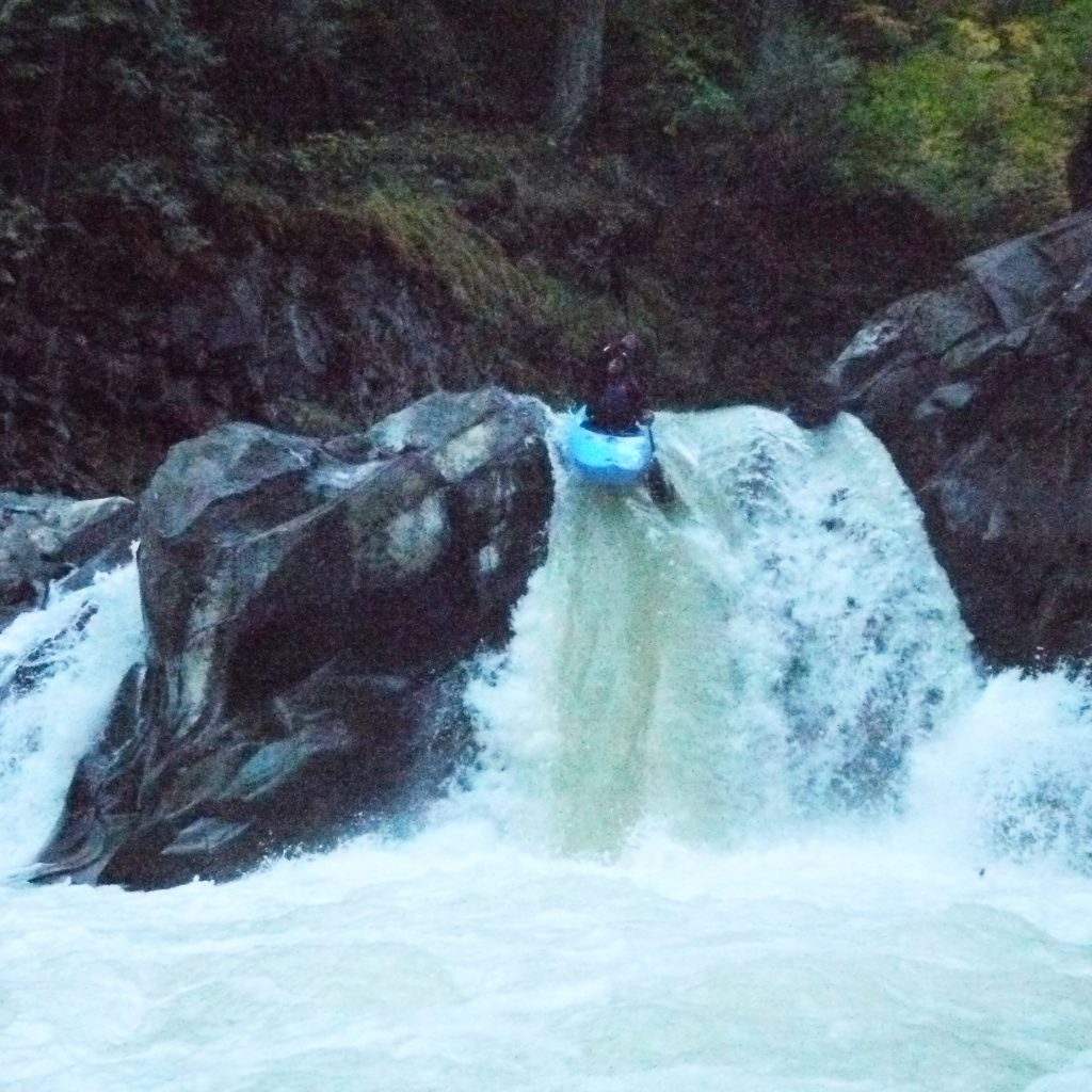 Naomi showing her passion for whitewater on Little Brother rapid on the White Salmon River