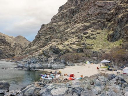 Hells Canyon Multiday River Trip Campsite