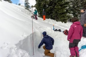 snow-pit-mt-hood washington and oregon snowpack update