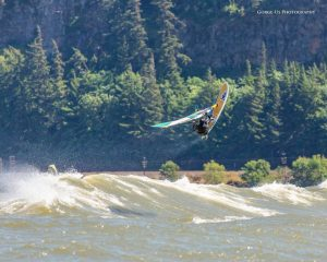 Wet Planet Guide Ethan Windsurfing on the Columbia River