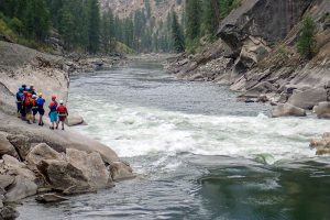 Scouting Rapid on Main Salmon River