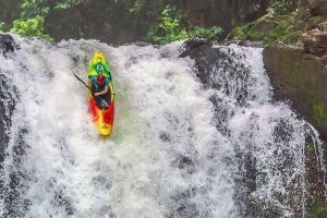 Learning how to kayak waterfalls