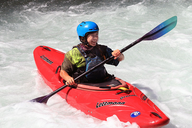 Kayaking the white salmon river