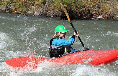 novice whitewater kayak course