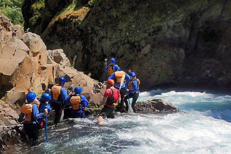 cliffs are rough on rafting gear